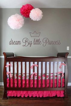 Nursery Idea Wall Decal Dream Big Little by HoneyDropDecals, $25.00