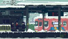 Tagged with japan, pixel art, illustration, illustrationstation, Shared by IllustrationStation. Pixel art by (Toyoi Yuuta) Vaporwave, How To Pixel Art, Arte 8 Bits, Pixel Art Background, Minecraft Banner Designs, Minecraft Crafts, Wallpaper Animes, Tokyo, 8 Bit Art
