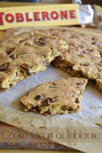 Recette facile cookie geant toblerone® - Kaderick en Kuizinn©