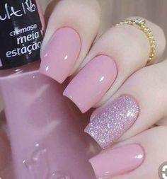 Unhas Artísticas, Unhas Decoradas, Unhas Com Pedras E Adesivos De Unhas Perfect Nails, Gorgeous Nails, Love Nails, Cute Pink Nails, Nails Polish, Gel Nails, Nail Nail, Nail Glue, Stylish Nails