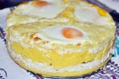 taci-si-inghite - o caopedopera a bucatariei romanesti din Ardeal Fish And Eggs Recipe, Timbale Recipe, Romania Food, Tapas, Frittata, Polenta Recipes, Good Food, Yummy Food, Pastry Cake