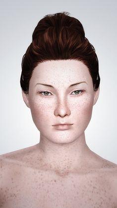 My Sims 3 Blog: Freckled Fruit Non-default Skintone by Kurasoberina