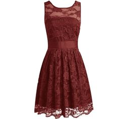 Wedtrend Floral Lace Dress Bridesmaid Dress Short Homecoming Dress (87 CAD) ❤ liked on Polyvore featuring dresses, red lace dress, short lace dress, red cocktail dress, homecoming dresses and lace cocktail dress