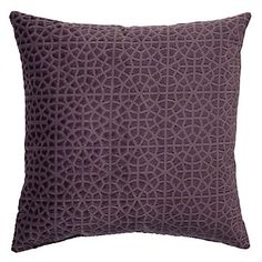 Add another layer of color and texture with our Alston Pillow in Eggplant, $99.95