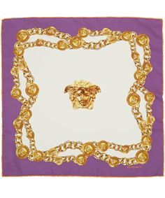 Versace Purple Link Chain Silk Scarf | Silk Scarves by Versace | Liberty.co.uk