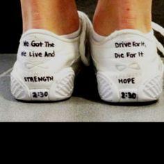 Cheer shoes, neat idea! :)