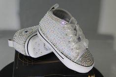 7437c3f4062c Custom Converse- Baptism- Christening- Baby Bling Converse- Bling Sneakers- Baby  Converse- Kids Converse- Birthday Converse- Bling Sneakers