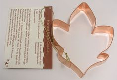 Hallmark Cookie Cutter Copper Fall Leaf Large 5 in. by 3-7/8 in. with Recipe