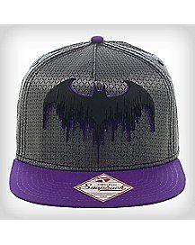 Grey and Purple Batman Snapback Hat