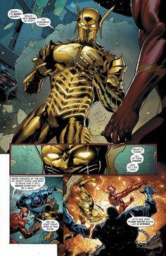 Do you want to see a villain like Godspeed or Red Death on the Flash? Arte Dc Comics, Dc Comics Vs Marvel, Flash Comics, Evil Batman, Batman Art, Batman Metal, Dark Knights Metal, Batman Redesign, Comic Art