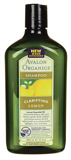 Avalon Lemon Clarifying Shampoo - Lemon Essential Oil, Chamomile Extract, Aloe and Vitamins gently clarify, brighten and remove excess oils and dulling build up to restore natural highlights, colour and shine. http://www.organicglow.co.uk/organic-shampoo/194-avalon-lemon-clarifying-shampoo.html