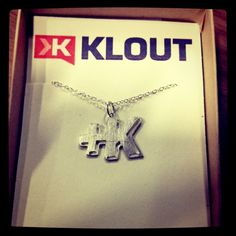 """Sweet +K necklace for Klout ladies! Thanks @joefernandez @katelin_cruse"" --@meganberry"