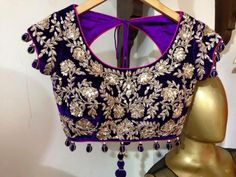 ready made gota work embroidery blouse – blousebackneckdesigns.com
