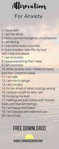 Anxiety Affirmations to help you cope with tough times
