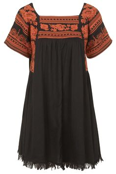 Photo 1 of Embroidered Smock Dress