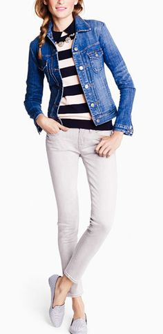 JCREW 2014 #DENIMJACKET #SAILORTSHIRT