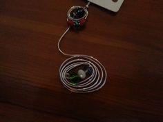 Mono orecchino wire con cristalli