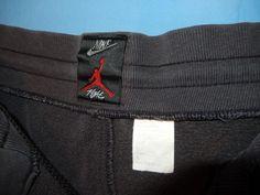 a4b2f86db526b9 Vtg 1990 s Nike Air Jordan Flight Sweatpants Large Black Red Bad Condition