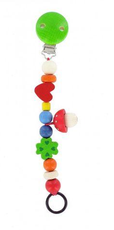 Schnullerkette Pilz von HOBEA-Germany - schönes und praktisches Geschenk zur Geburt: Schnullerketten!  #Schnullerkette #Holzspielzeug #Babyspielzeug #Schnullerbefestigung #Holz #HOBEA
