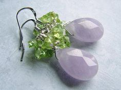 Faceted Lilac Colored Amethyst Briolette and by smallbluethings, $28.00