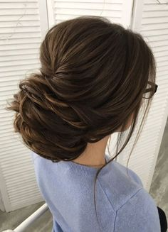 55 Captivating Wedding Hairstyles For Medium Length Hair These trendy Hairstyle ideas would gain you amazing compliments. Check out our gallery for more ideas these are trendy this year. Cool Braid Hairstyles, Bride Hairstyles, Updo Hairstyle, Hairstyle Ideas, Elegant Wedding Hair, Wedding Hair And Makeup, Wedding Bride, Bridal Hair Inspiration, Gorgeous Hair