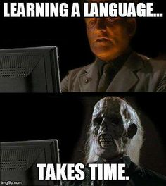 Learning a language also takes more than sitting behind a computer screen (unless you want to end up like this guy before you actually master it). #truth #asl