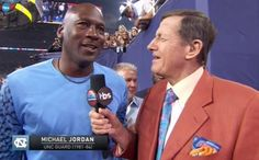 Craig Sager begged for an interview with Michael Jordan during the national championship game on Monday night and got it, but there was one major problem: the audio feed kept cutting out.   First, here's video of Sager, who is battling cancer, asking Jordan to do an interview with him for