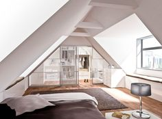 Raum + System walk in wardrobe loft conversion #loft #conversion #loftconversion #geha #roomsystem #bedroom #bedroomideas #bedroominspiration #walkinwardrobe