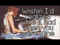 Back to December / Apologize / You're Not Sorry (Live) - Taylor Swift - Lyrics
