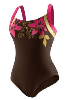 Speedo Women's Gilded Floral Switchback Core Compression Swimsuit. For more information visit poloswimtrunks.org