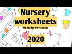 Worksheet For Nursery Class, Nursery Worksheets, Phonics Worksheets, Worksheets For Kids, Maths, Kids Learning, Youtube, Diy, Kids Worksheets