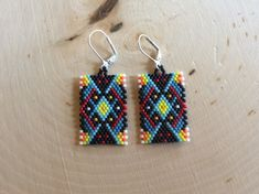 Beaded Earring Majestic by Bead4Fun on Etsy