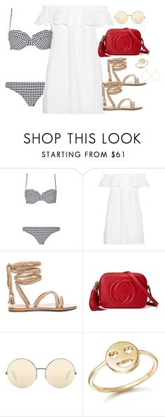 """""""Untitled #3803"""" by theaverageauburn ❤ liked on Polyvore featuring Tory Burch, Gucci, Victoria Beckham, Bing Bang and Natasha Schweitzer"""