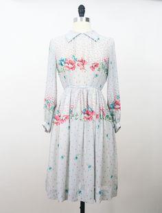 Flower Montage Japanese Vintage Dress https://www.etsy.com/listing/161666083/japan-dress-vintage-70s-dress-flower?ref=shop_home_active #vtg #vintage #fashion #dress #vintagefashion #vintagedress