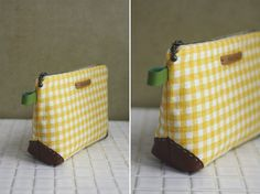 Zippered Handbag - Cosmetic Bag Tutorial ~ DIY Tutorial Ideas!