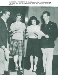 Speech students in the radio division perform for KOAC radio 1941.  From the 1942 Oregana (University of Oregon yearbook). www.CampusAttic.com