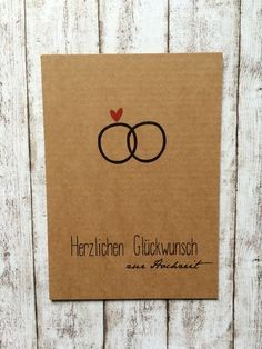 "Congratulations on the wedding ""Ring"" by Kartenliebe Hamburg on DaWanda.c Postcard Congratulations on the wedding ""Ring"" by Kartenliebe Hamburg on DaWanda.c . -Postcard Congratulations on the wedding ""Ring"" by Kartenliebe Hamburg on DaWanda.c . Wedding Cards, Wedding Favors, Wedding Gifts, Wedding Ring, Wedding Present Ideas, Diy Wedding On A Budget, Post Wedding, Diy Cards, Unique Weddings"