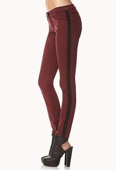 Sleek Tuxedo Skinny Jeans   FOREVER 21 - 2000128214