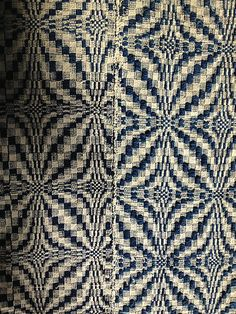 Antique Hand Loomed Coverlet Blue Indigo and Natural Buff | eBay