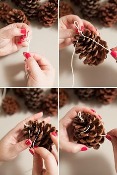 how to make your own Pinecone Fire Starters! DIY - How to make Pinecone Fire Starter favorsDIY - How to make Pinecone Fire Starter favors Diy Crafts To Sell, Crafts For Kids, Pinecone Fire Starters, Winter Wedding Favors, Pine Cone Crafts, Mason Jar Candles, Candels, Color Melting, Dog Snacks
