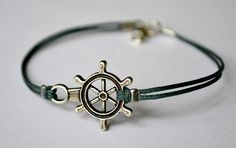 Ship wheel bracelet men's bracelet with a silver by Principles, $10.00