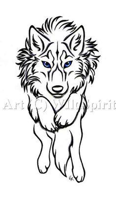 Wolfsburg wolf tattoo design