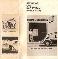 Anúncios que não foram publicados da Volkswagen no Brasil  Revista O Bom Senso set/1963  Dos Recrame