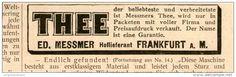 Original-Werbung/Inserat/ Anzeige 1902 - MESSMER THEE (TEE) TEXTPLAZIERUNG - ca. 25 x 80 mm