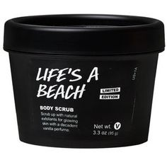 Get beachy clean! Limited edition Life's a Beach body scrub is available online and in shops now.