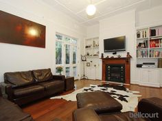 jarrah floors and just a hint of warmth in the white walls