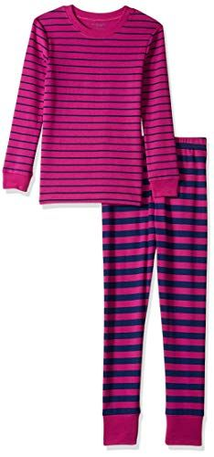Toddler Girl Long Sleeve Snug-Fit Outfits Multicolor Stripe Tops Drawstring Pants Ruffle Pajamas Ribbed Knitted Clothes Set