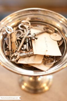 fascination with old hotel keys -Greg Tankersley Home – Old Cloverdale | The Lettered Cottage