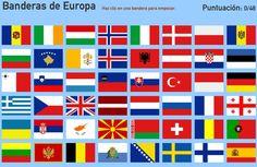 Banderas de Europa | Mapa interactivo de Europa Banderas de Europa. Toporopa - Mapas ...