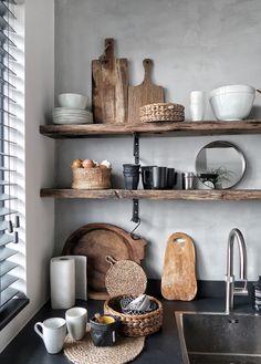Best ideas for neutral kitchen design ideas in 2019 Boho Kitchen, Home Decor Kitchen, Kitchen Styling, Rustic Kitchen, Country Kitchen, Kitchen Interior, New Kitchen, Home Kitchens, Kitchen Dining